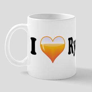 I Love Rye Whiskey Mug