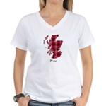 Map - Brice Women's V-Neck T-Shirt