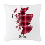 Map - Brice Woven Throw Pillow