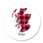 Map - Brice Round Car Magnet