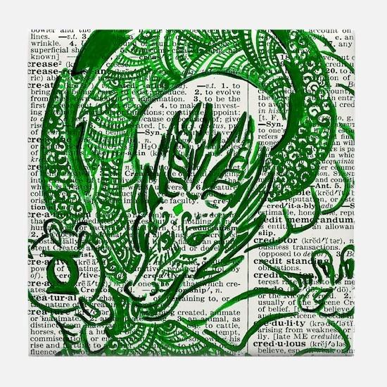 The Jade Dragon Tile Coaster