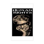 HUMAN RIGHTS Rectangle Sticker