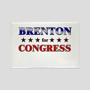 BRENTON for congress Rectangle Magnet