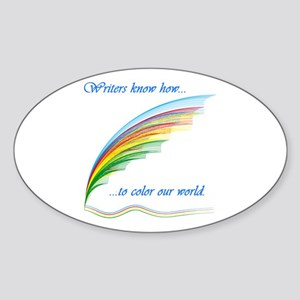 Writers know how... Oval Sticker