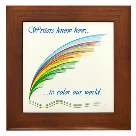 Writers know how... Framed Tile
