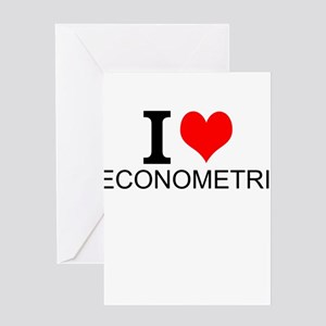 I Love Econometrics Greeting Cards