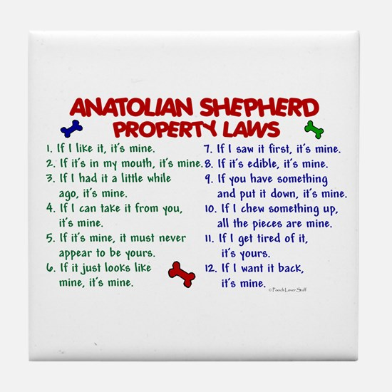 Anatolian Shepherd Property Laws 2 Tile Coaster