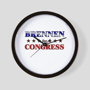 BRENNEN for congress Wall Clock