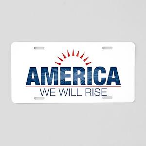 America- We Will Rise Aluminum License Plate