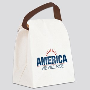 America- We Will Rise Canvas Lunch Bag