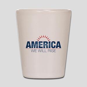 America- We Will Rise Shot Glass