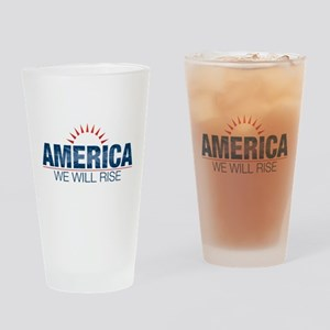 America- We Will Rise Drinking Glass