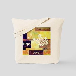Faith Hope Love Tote Bag