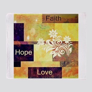 Faith Hope Love Throw Blanket