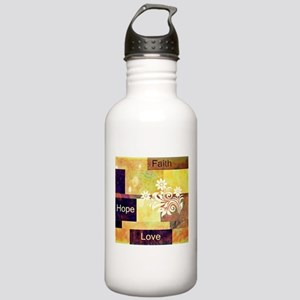Faith Hope Love Stainless Water Bottle 1.0L
