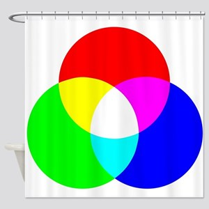 RGB Color Model Shower Curtain