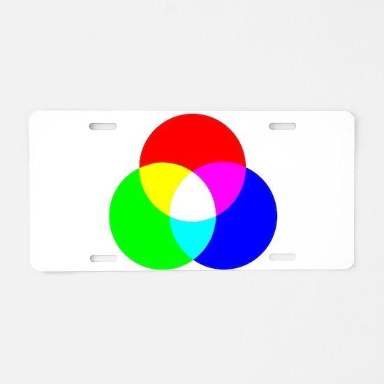 RGB Color Model Aluminum License Plate