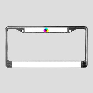 CMYK Color Model License Plate Frame