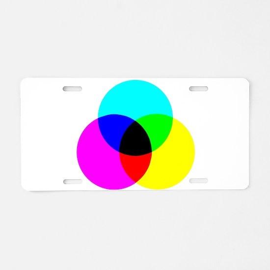 CMYK Color Model Aluminum License Plate
