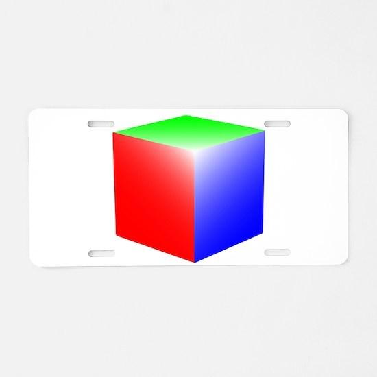 RGB Cube Aluminum License Plate