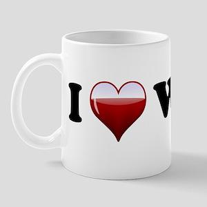 I Love Red Wine Mug