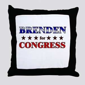 BRENDEN for congress Throw Pillow