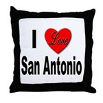 I Love San Antonio Throw Pillow