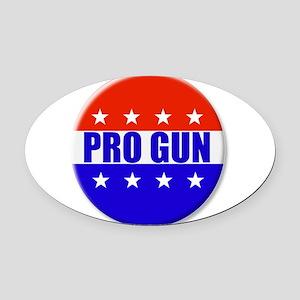Pro Gun Oval Car Magnet