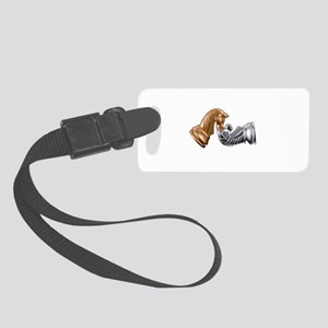 Chess Game Play Small Luggage Tag
