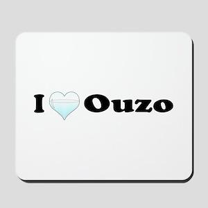 I Love Ouzo Mousepad