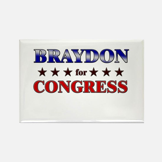 BRAYDON for congress Rectangle Magnet