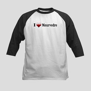 I Love Mourvedre Kids Baseball Jersey