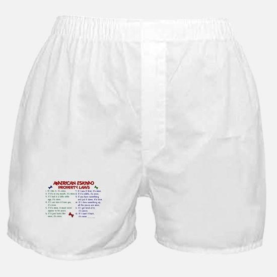 American Eskimo Property Laws 2 Boxer Shorts