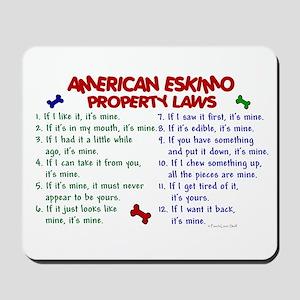 American Eskimo Property Laws 2 Mousepad