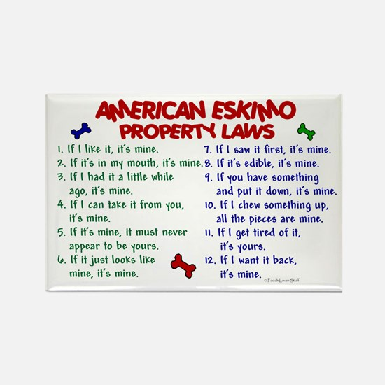 American Eskimo Property Laws 2 Rectangle Magnet