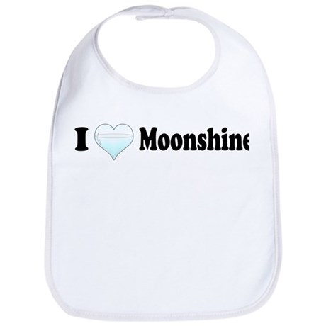 I Love Moonshine Bib