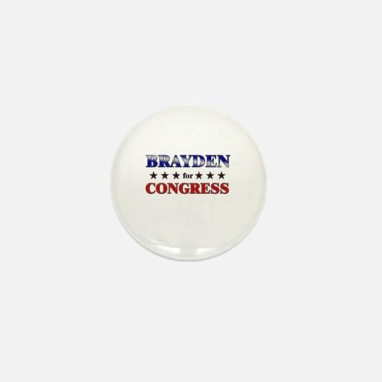 BRAYDEN for congress Mini Button