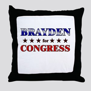 BRAYDEN for congress Throw Pillow