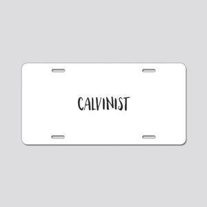 Calvinist Aluminum License Plate