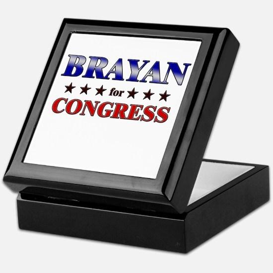 BRAYAN for congress Keepsake Box