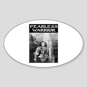 FEARLESS WARRIOR Oval Sticker