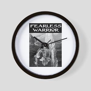 FEARLESS WARRIOR Wall Clock