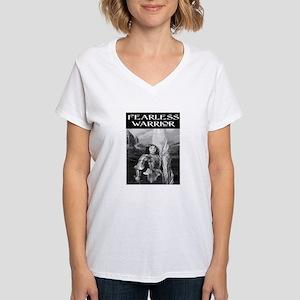 FEARLESS WARRIOR Women's V-Neck T-Shirt