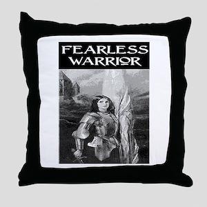 FEARLESS WARRIOR Throw Pillow