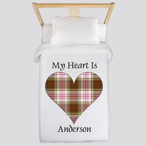 Heart - Anderson dress Twin Duvet