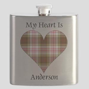 Heart - Anderson dress Flask