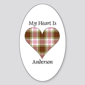 Heart - Anderson dress Sticker (Oval)