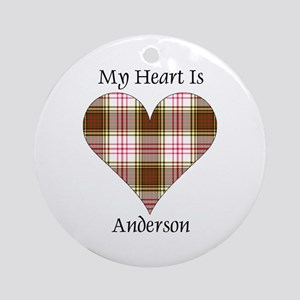 Heart - Anderson dress Round Ornament