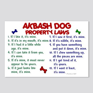 Akbash Dog Property Laws 2 Postcards (Package of 8