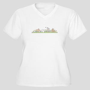Bunny Family Plus Size T-Shirt